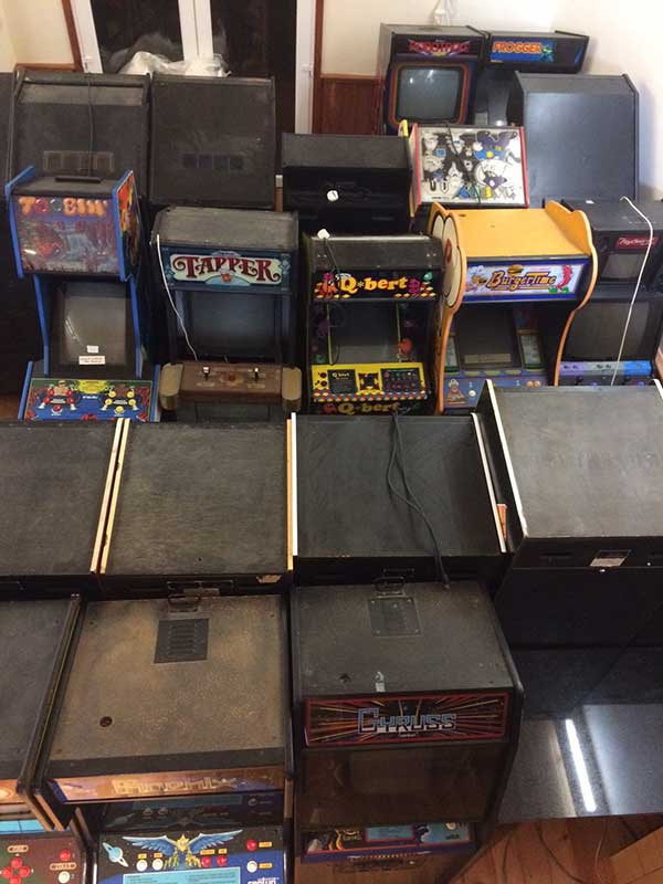collection of arcade machines