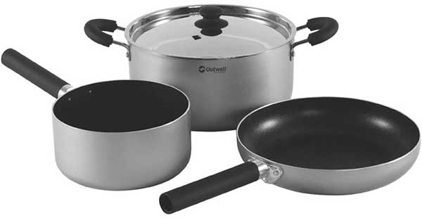 Stacking cooking set for camping