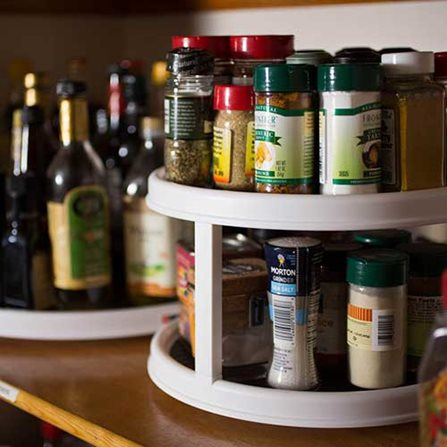 Lazy Susan Storage Ideas Spices and Cooking Oil