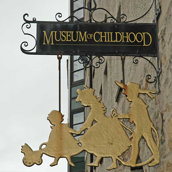 Sign for Museum of Childhood in Stoke Newington, North London