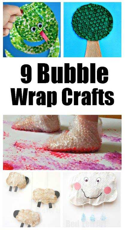 9 Ideas for Crafting with Bubble Wrap