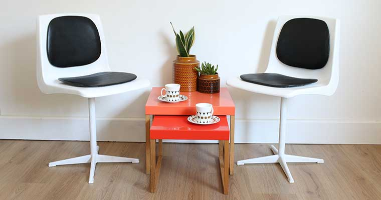 How to refresh old plastic chairs