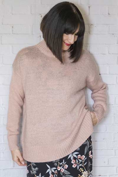 Chunky jumper over romper suit