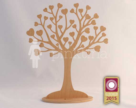 Heart Shaped Tree Jewelry Storage