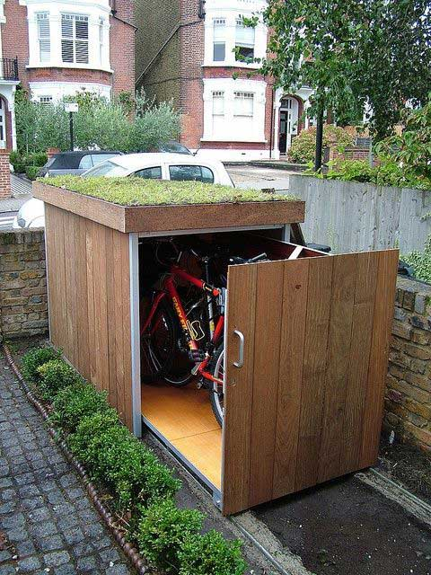Bike Storage with Raised Garden