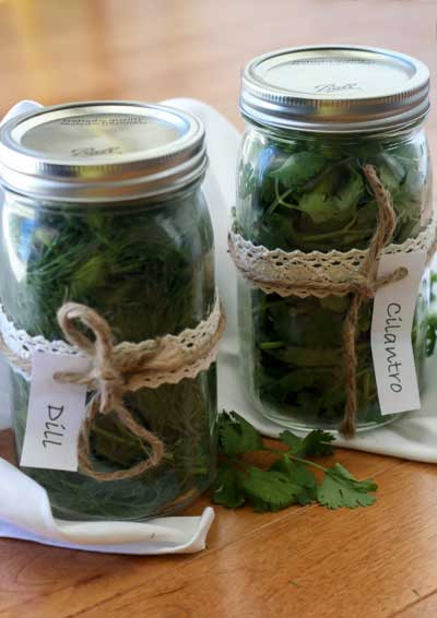 Store Herbs in Mason Jars