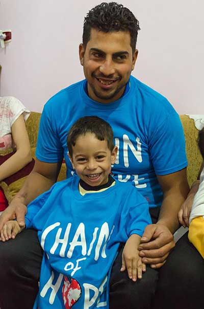 Aziz first child supported by Chain of Hope