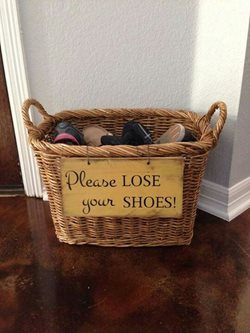 Shoe Storage Wicker Basket