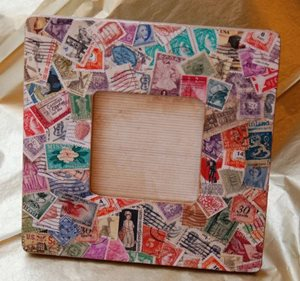 Decoupage photo frame