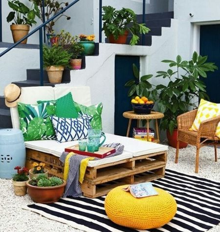 Vibrant garden furniture