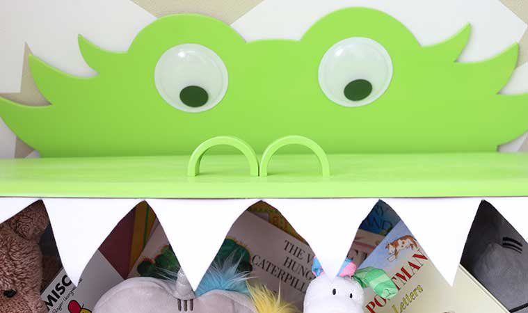 DIY Monster Mouth Toy Box