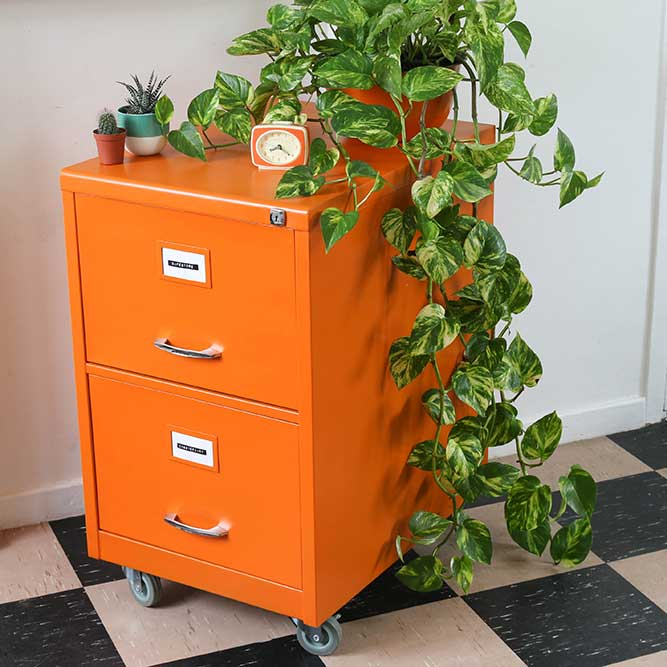 How to restore a metal filing cabinet - Upcycling