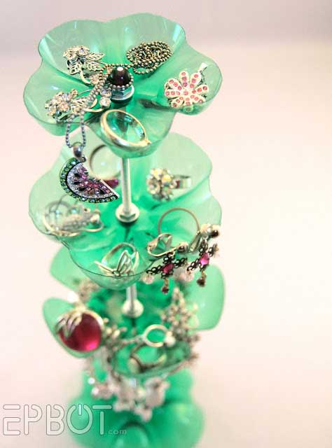 Recycled Bottle Jewelry Storage