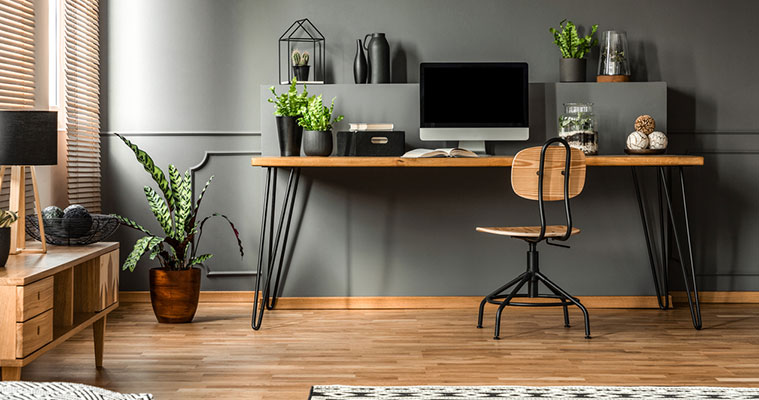 How to turn a garage into a home office