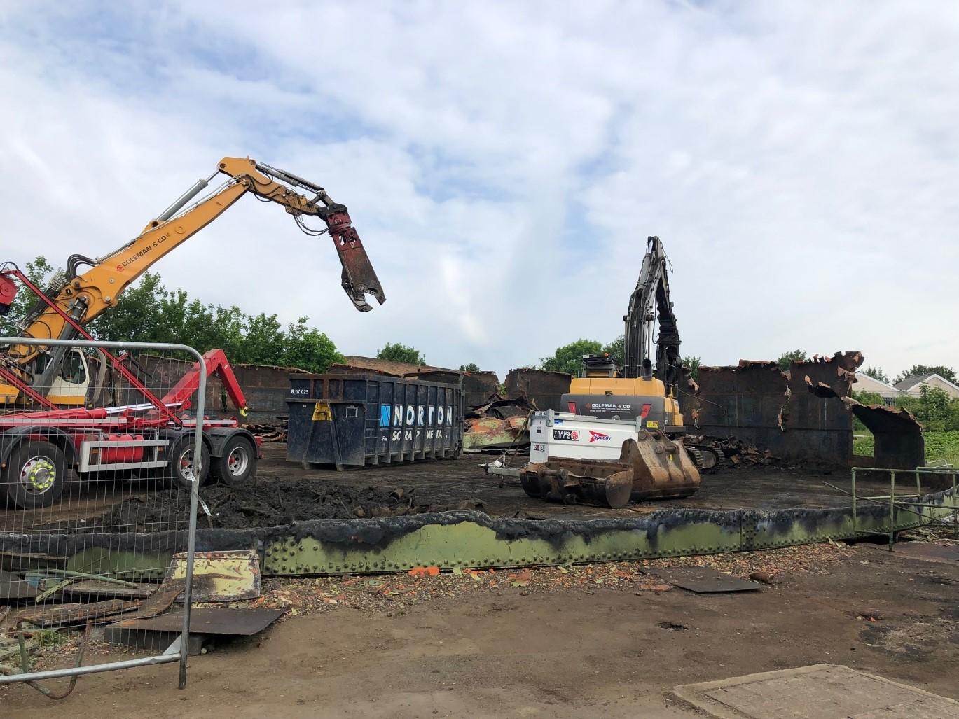 Final stages of demolition
