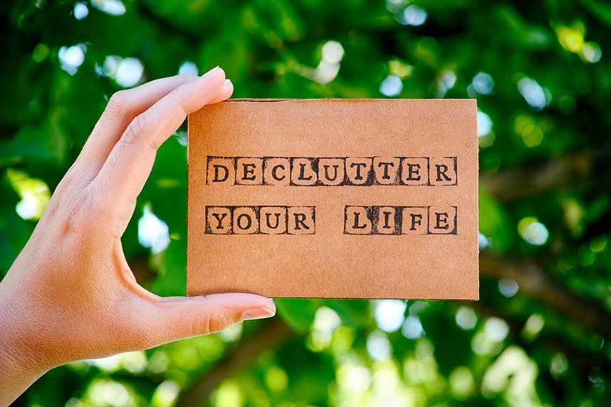 Self storage moving house decluttering
